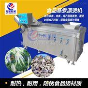 商用直销蔬菜连续预煮机 蔬菜清洗漂烫机