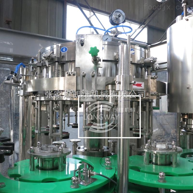 玻璃瓶皇冠盖芬达灌装机 可乐灌装设备