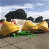 黄色组合大浮标施工 水域界标喷组浮漂