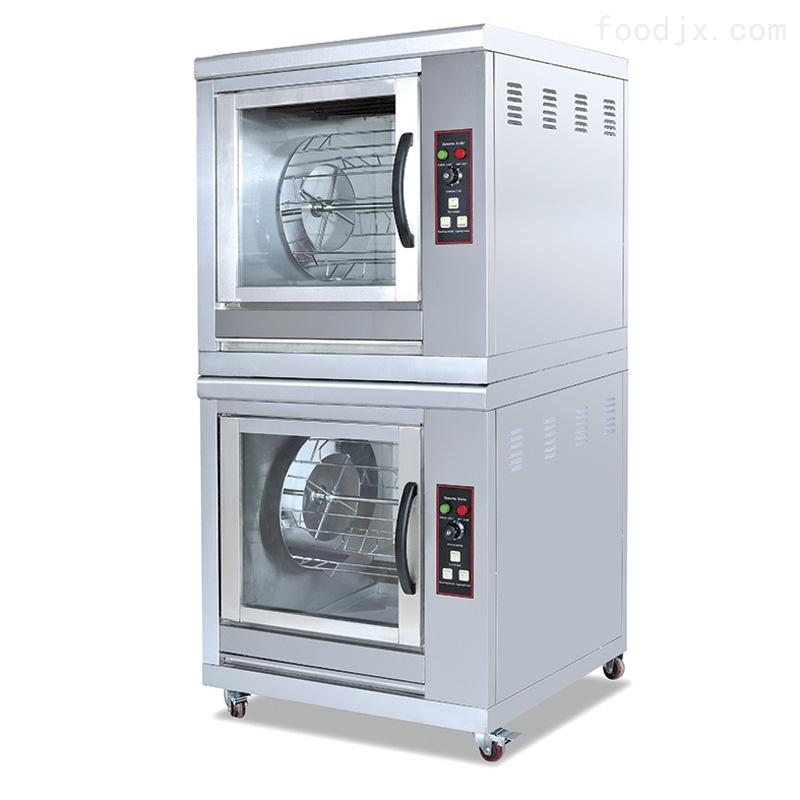 双层旋转电加热烤鸡炉