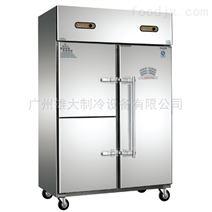 长沙—不锈钢横拉手门厨房冷柜