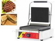 商用电热扒炉帕尼尼三明治机上下坑煎扒炉