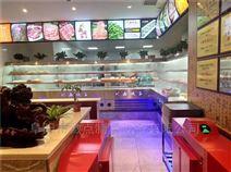 明档菜品自选柜定做,开放式自助餐保鲜柜