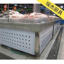 超市不锈钢冰鲜台酒店生鲜海鲜冷藏保鲜展示