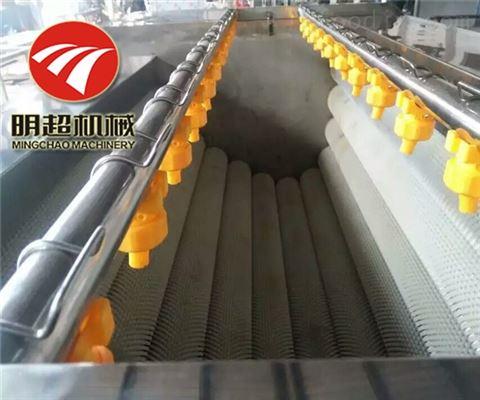 根茎类毛刷辊高效率红薯清洗机产能500公斤