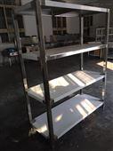 不锈钢四层货架承接厨房工程通风环保设备