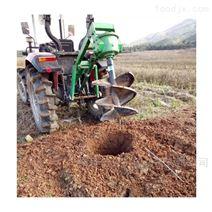 拖拉机带挖坑机