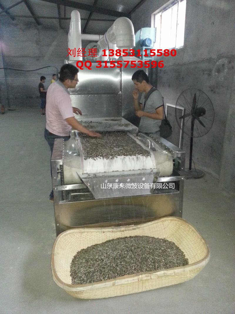 南瓜子烘烤熟化设备,微波南瓜子烘烤烘熟设备